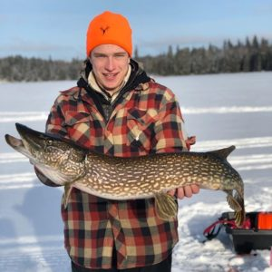 Guided Fishing for Norther Pike on Lake of the Woods Ontario